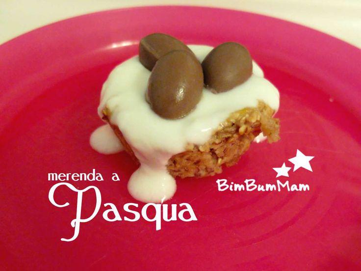 Merenda a Pasqua per bambini - Divertiti con i tuoi figli preparando questa ricetta semplice e veloce per una merenda golosa a Pasqua. BimBumMam