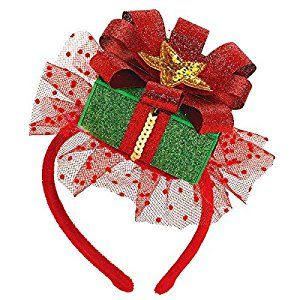 "Amazon.com: Amscan Fun-Filled Christmas and Holiday Party Gift Fascinator (1 Piece), 8"" x 5"", Multicolor: Toys & Games"