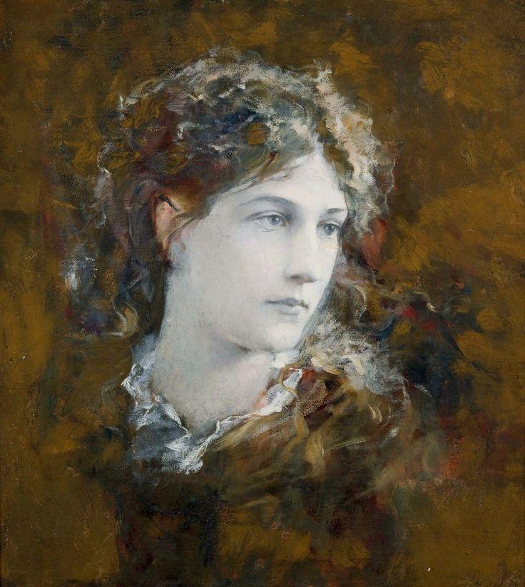 Portrait of Helena Modrzejewska (Helena Modjeska) by Franciszek Krudowski, ca. 1890 (PD-art/70), Muzeum Narodowe w Krakowie (MNK)