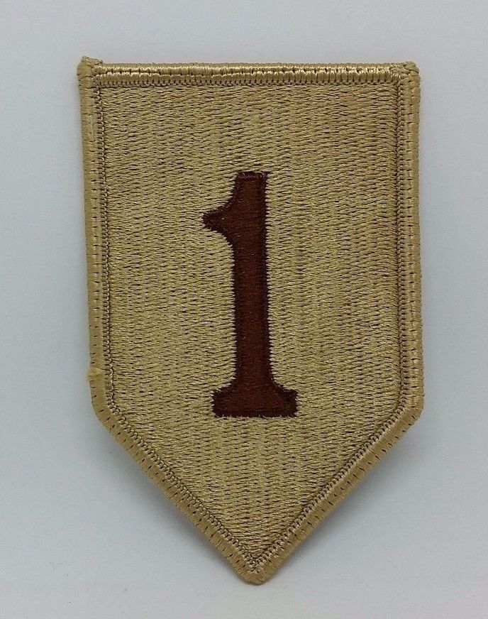 Military US Army 1st Infantry Division Desert The Big Red One Embroidered Patch #Patch