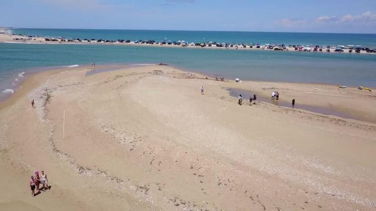 VIDEO: Drone video of new NC island called Shelly Island