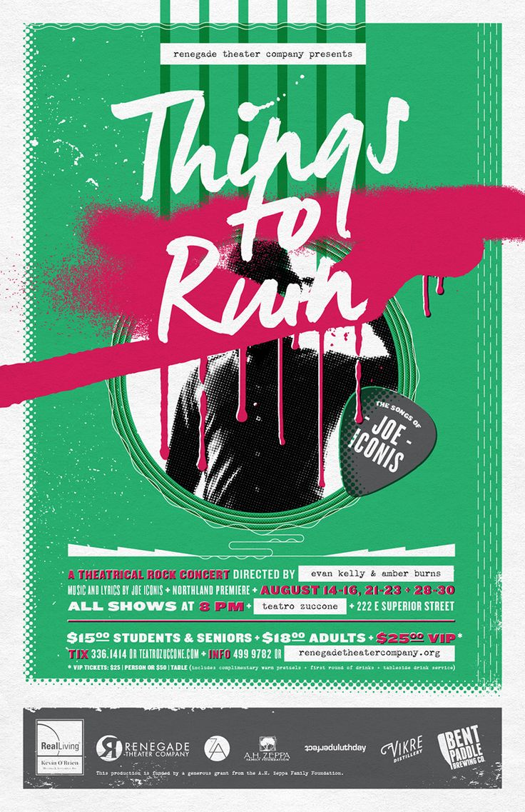 Poster design 2014 -  Things To Ruin Theater Poster Design For Renegade Theater Company In Duluth Minnesota