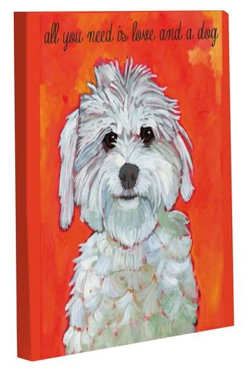 Love and A Dog Wall Decor by Tail Wagging Decor on @HauteLook
