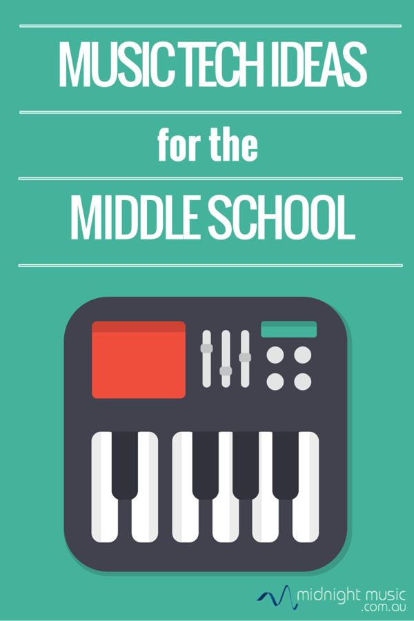 10 Music Tech Ideas for the Middle School  From Katie Wardrobe at Midnight Music