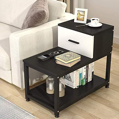 Enjoy Exclusive For Tribesigns Modern End Table Drawer 3 Tier