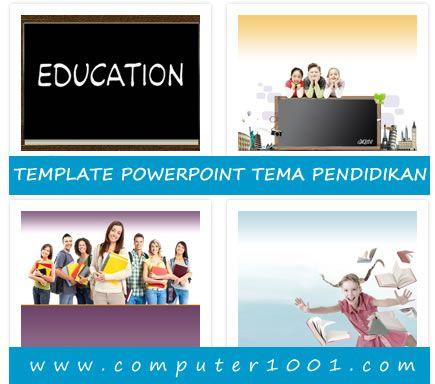 Template PowerPoint Tema Pendidikan puter1001