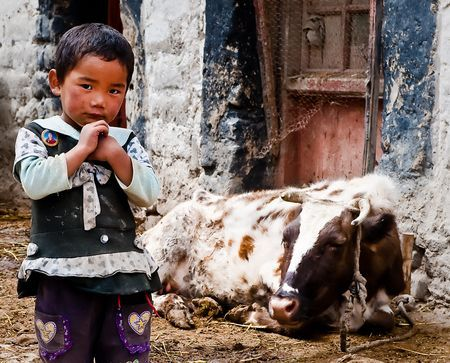 Young Tibetan boy in Gyantse Village. 20 Photo by Nora de Angelli - www.noraphotos.com -- National Geographic Your Shot