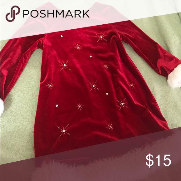 Bonnie jean little girl's Christmas dress Wore once size 4 Dresses Midi