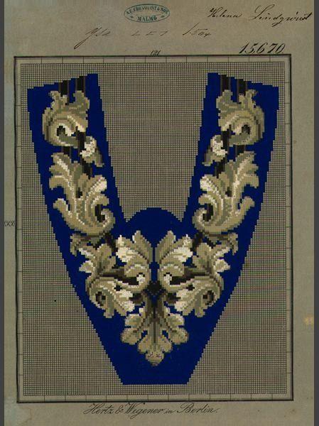 Man's Slipper pattern, 19th century.