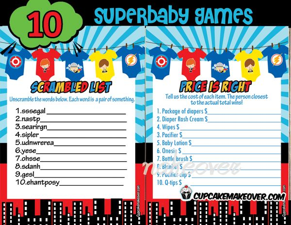 Throw A Superhero Baby Shower That Really Packs A Punch!