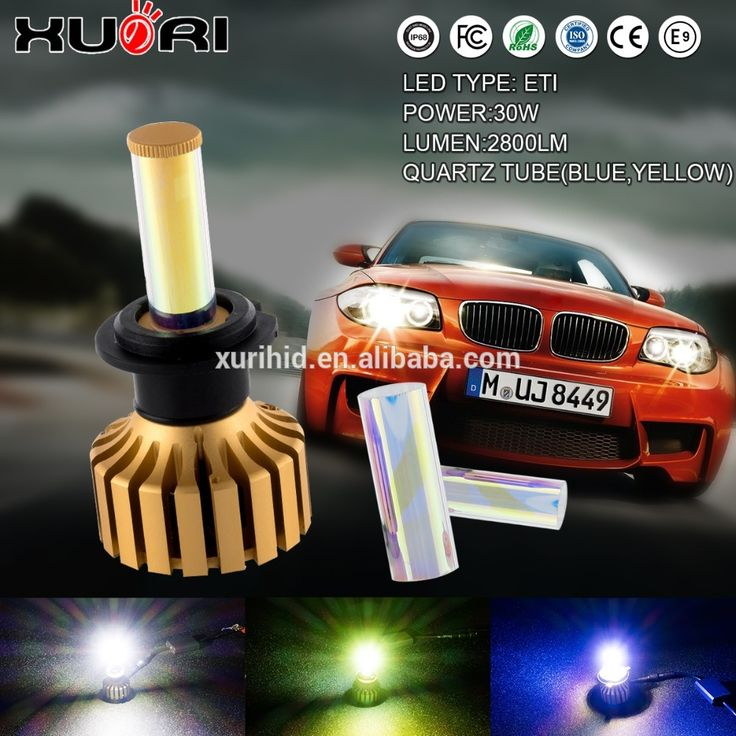 Auto Led 3 Colors changeable 3 inch round sealed beam headlight Led Conversion For Auto Cars Vehicles