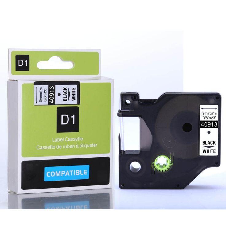 15 шт. лучшее качество 9 мм черного цвета на белом ленты 40913 для Dymo D1 принтер