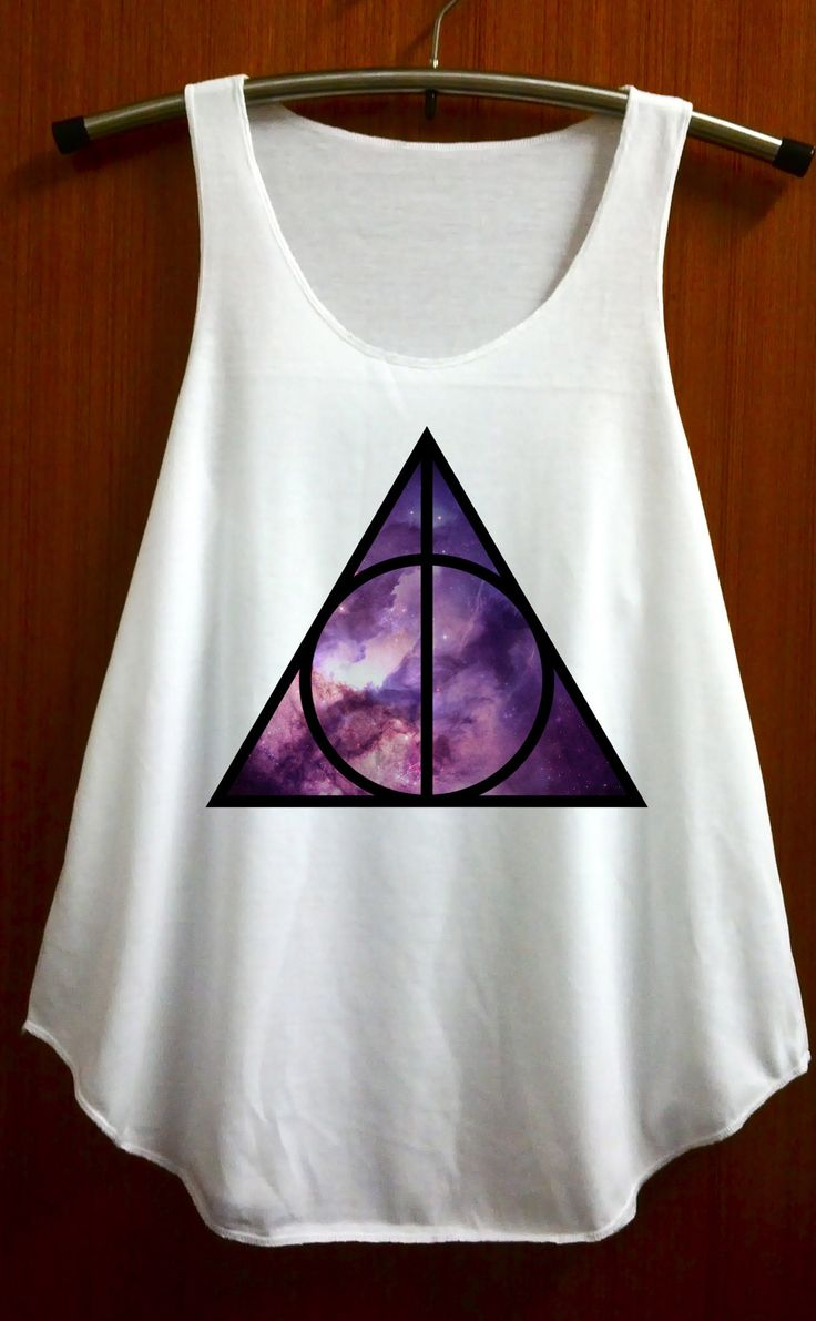 Deathly Hallows Galaxy Shirt Harry Potter Shirts Tank Top T Shirt Tunic Singlet Size S and M