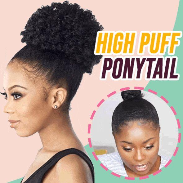 High Puff Ponytail in 2020 | Puff ponytail, Ponytail, Hair ...