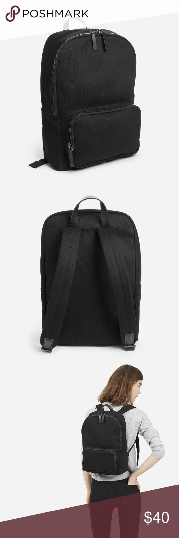 """Everlane modern zip backpack - mini NEW WITH TAGS 11 1/2"""" L x 6"""" W x 15"""" H Comfortably fits 13"""" Macbook Water-resistant cotton twill exterior, cotton/polyester lining, leather detailing Spot clean only  Great little backpack! I have 2 of these and use it everyday. The size may surprise you, it fits a lot more than expected! Everlane Bags Backpacks"""
