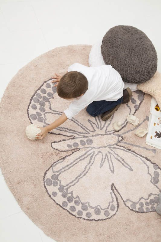 Washable rug Butterfly Nude/Alfombra lavable Butterfly Nude