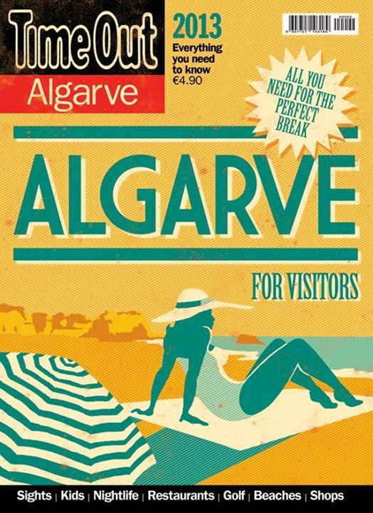 Cover for Time Out Algarve for Visitors 2013. I made this cover along with Lisbon and Porto for Visitors. The idea was to built a small collection with the vintage feel of old portuguese stamps. Few colors, high contrast, low detail illustrations, with a known landmark or highlight.