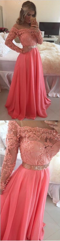 Long prom dresses,Long sleeve lace prom dress, off shoulder prom dress, cheap prom dress, prom dress 2017, lace prom dress, red prom dress