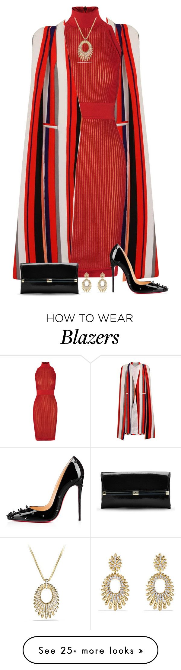 """Untitled #2472"" by elia72 on Polyvore featuring moda, Topshop, Balmain, Christian Louboutin, Diane Von Furstenberg, David Yurman, women's clothing, women, female e woman"