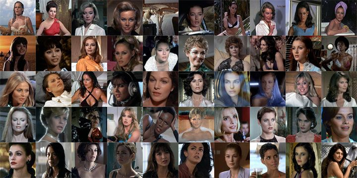 List Of All Bond Girls | Click here for a list of all the 50 bond girls, the movie they were ...