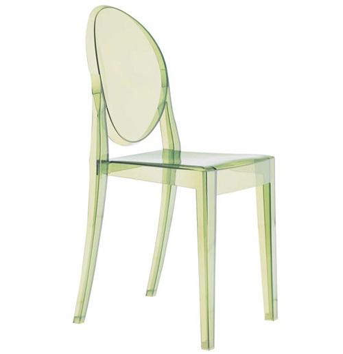 Sedia Victoria Ghost di Philippe Starck per Kartell