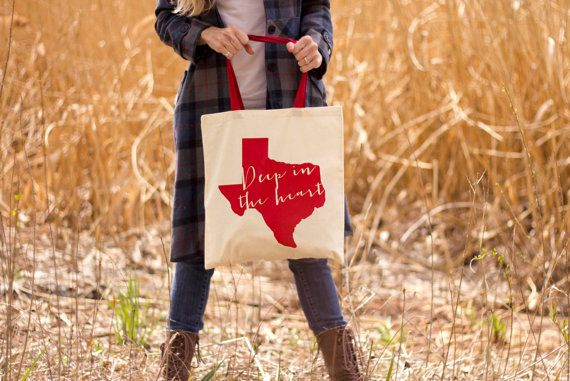 Deep In The Heart of Texas Canvas Tote Bag by seekerofhappiness, $10.00