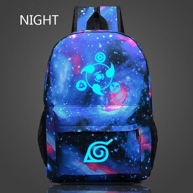 Epoch Fashion 2016 Naruto Luminous Rucksacks Japan Anime Printing Backpacks Luminous Backpack For Boy/Girl Fans Canvas Backpack ** Recherchez l'offre en cliquant simplement sur l'image