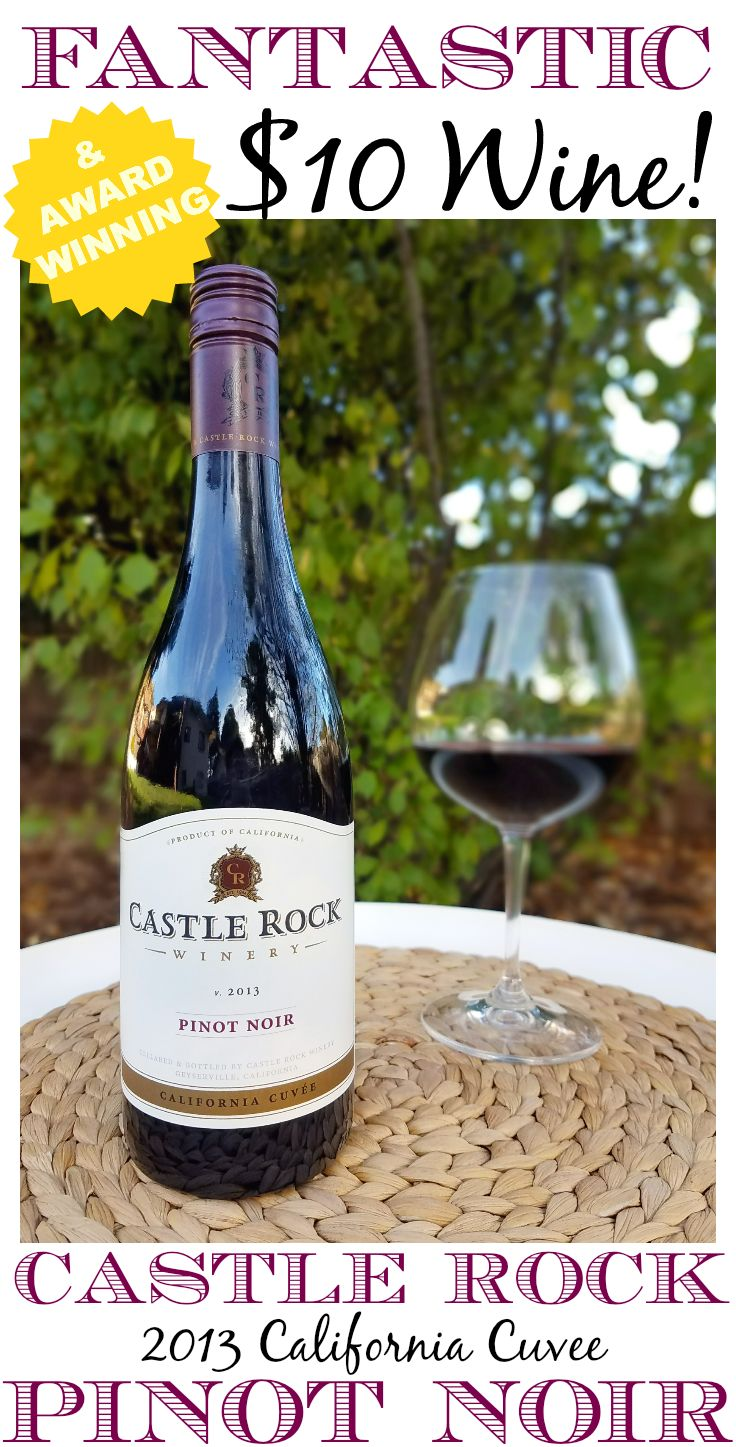 """If you enjoy good wine but don't enjoy spending a fortune, you have to give the Castle Rock 2013 California Cuvee Pinot Noir a try! It has been recognized by both Wine Spectator and Wine Enthusiast for being a fantastic wine at a bargain price, earning the label of """"Top Value"""" and """"Best Buy"""". It is widely available and around $10 a bottle, making it affordable to enjoy any time!"""
