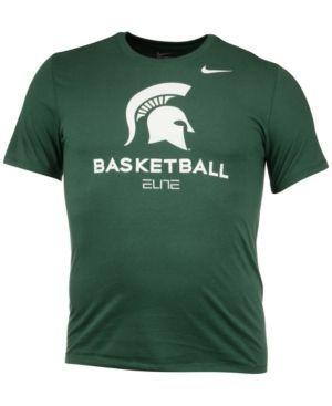 Nike Men's Michigan State Spartans Basketball University T-Shirt - Green XXL