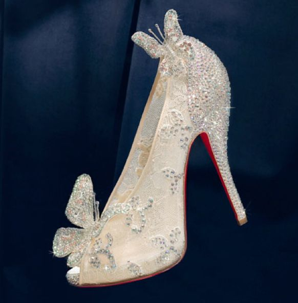 Disney and Christian Louboutin's brand new shoe in honor of the Diamond Edition release of Cinderella.
