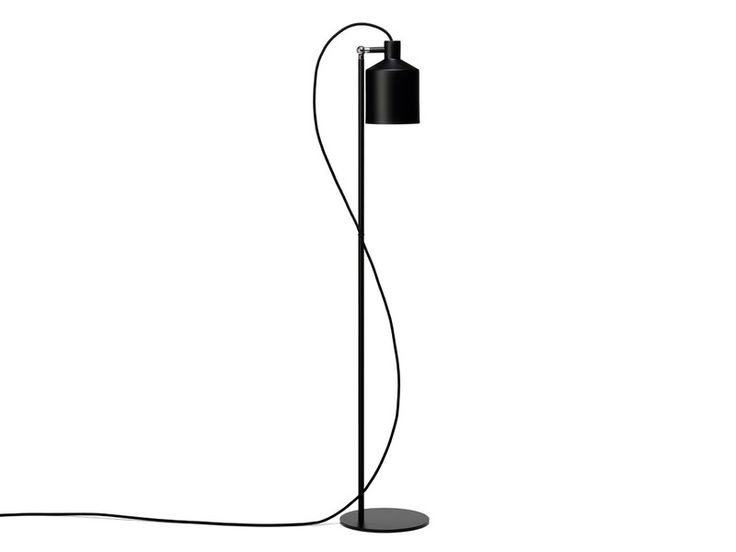 The Zero Silo Floor Lamp is minimalistic, with a distinct industrial character.