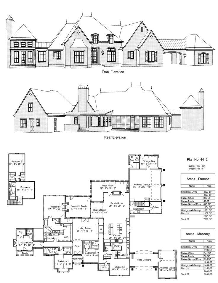 338 best house plans images on Pinterest Home plans, Design homes - copy tucson blueprint building