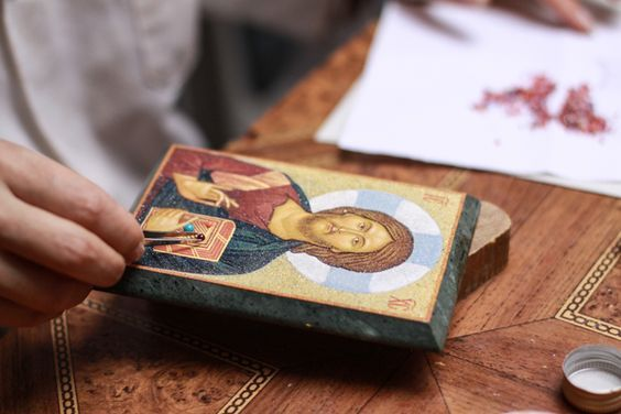 "Icon Painting Master Class Ӏ Charity-Oriented Festival 2017 ""From Heart To Heart"" in London (May 4-7) and in Dublin (May 10-14) - #saint #princess #Elizabeth #christianity #orthodoxy #faith #icons #iconography #UK #Britain #London #Dublin #events #festivals #markets #exhibitions #masterclass #concert #choir #charity"