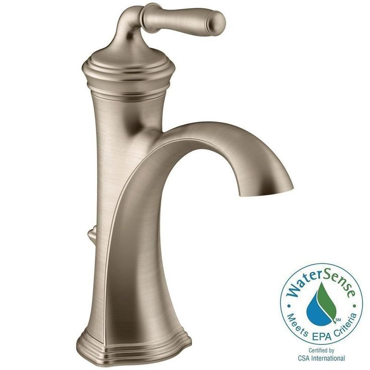 kohler devonshire single hole single handle water saving bathroom faucet in vibrant brushed bronze - Kohler Waschbecken Schneidebrett