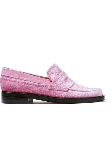 EXCLUSIVE AT NET-A-PORTER.COM. MR by Man Repeller's 'The Alternative To Bare Feet' loafers put a contemporary spin on a classic silhouette. In the season's favorite fabric, these plush velvet loafers are embossed with a paisley motif and have a traditional penny slot. Channel designer Leandra Medine's eclectic style by wearing yours with a silky dress or cropped tailoring.