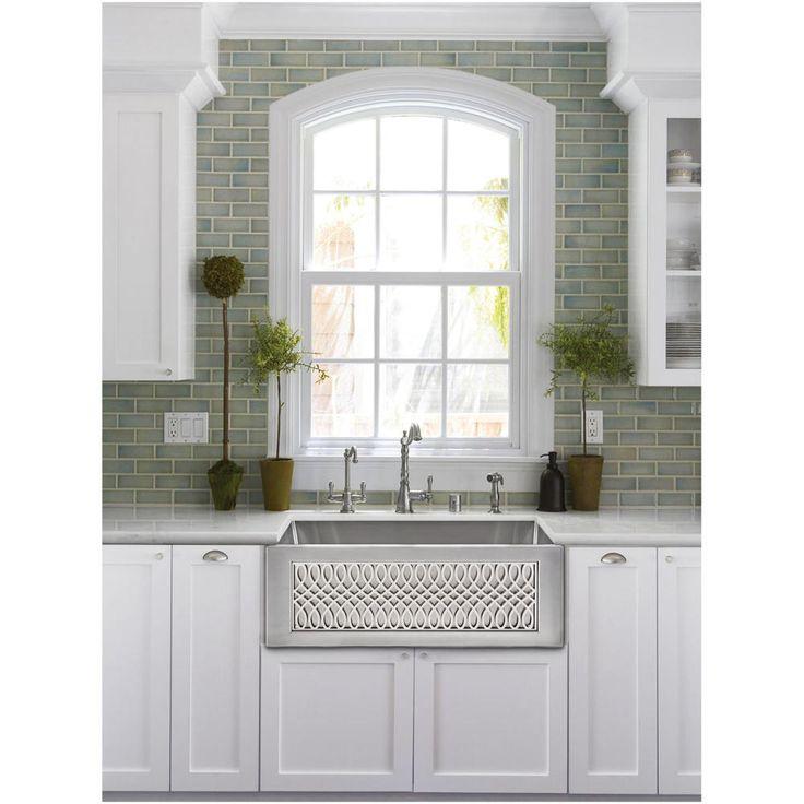 Linkasink Inset Apron Front Smooth Farmhouse Kitchen Sink
