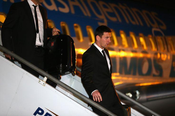 Lionel Messi Photos: The Argentina Team Arrives in Belo Horizonte