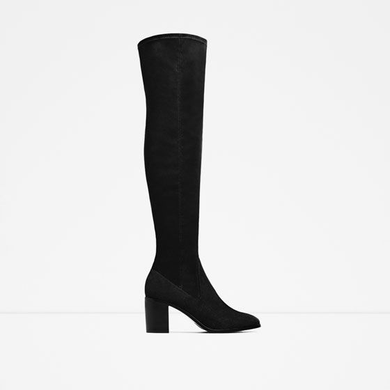 ZARA - WOMAN - STRETCH HIGH HEEL OVER-THE-KNEE BOOTS