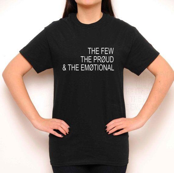 El pocos el orgulloso y el cuello redondo emocional - veintiún pilotos camisa - Letras bastante Local - Tumblr camisa-Teen moda-mujeres ropa