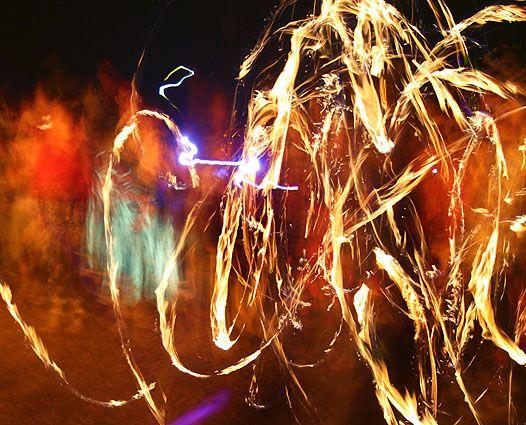 Fire Dancers @ AfrikaBurn 2009 Tanqua Karoo, Western Cape