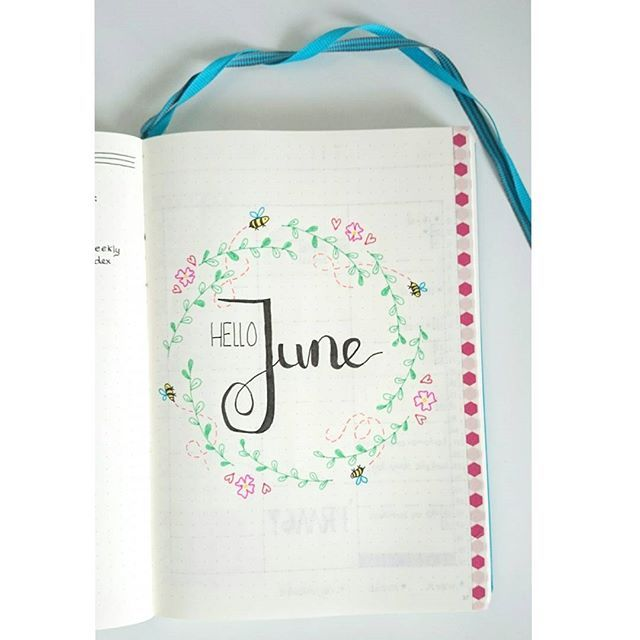 The intro page of a new month! The next days I will post my June setup. This one…
