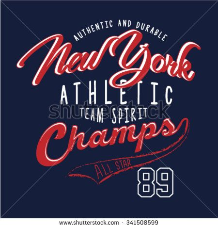 new york athletic slogan t shirt graphic typography. Black Bedroom Furniture Sets. Home Design Ideas