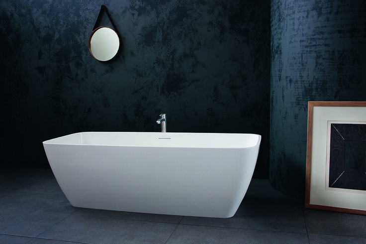 This striking bath is available in two sizes with sharp fine edges with attractive curved ends. The Vicenza bath from Clearwater Bathrooms http://www.clearwaterbaths.com/Products/ProductDetail?prodId=3306&name=Vicenza%20natural%20stone%20bath