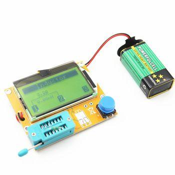 2016 V2.68 ESR-T4 Mega328 Digital Transistor Tester Diode Triode Capacitance ESR Meter MOS/PNP/NPN LCR 12864 LCD screen  Price: 6.82 USD