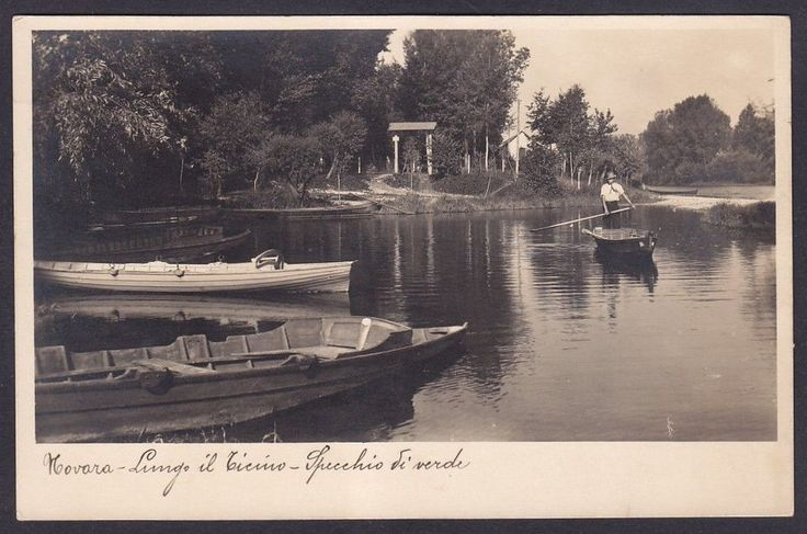 NOVARA provincia GALLIATE ? TRECATE ? OLEGGIO ? Fiume TICINO Cartolina viag 1934 | eBay
