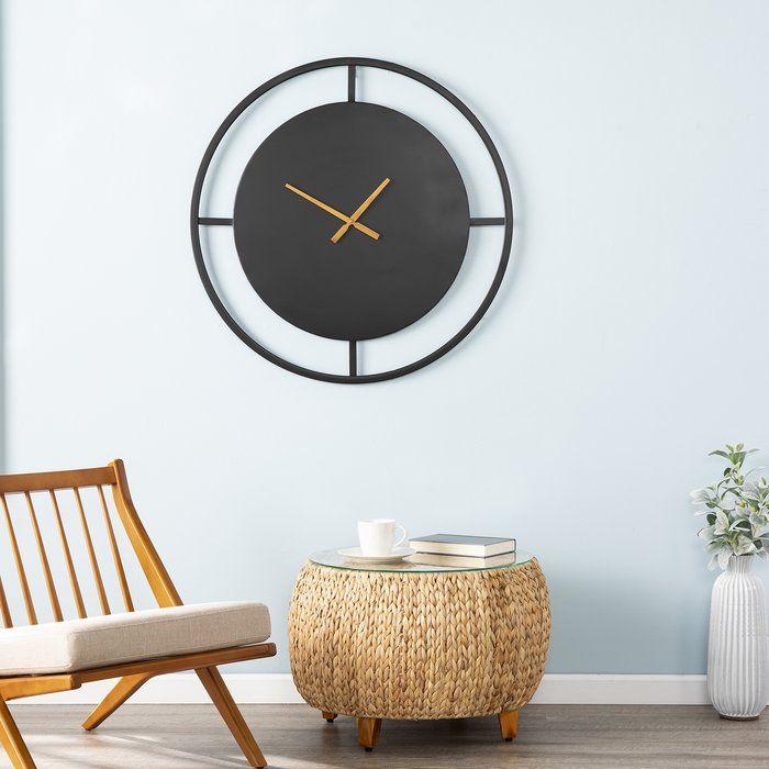 Oversized Silsden 26 25 Wall Clock Minimalist Wall Clocks Wall