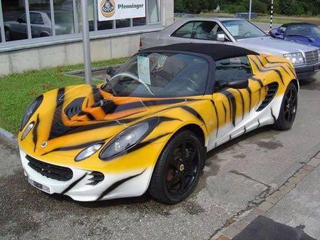 15 Creative Car Paintings - Oddee.com (car painting)