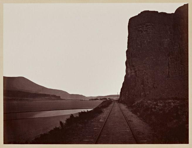 #PHOTOGRAPHER Carleton Watkins (U.S.A., 1829-1916) 'Cape Horn, near Celilo' 1867