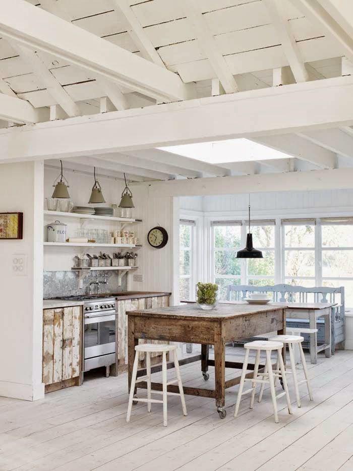 Casa amarilla en la playa cocinas kitchens pinterest for Pinterest maison de campagne