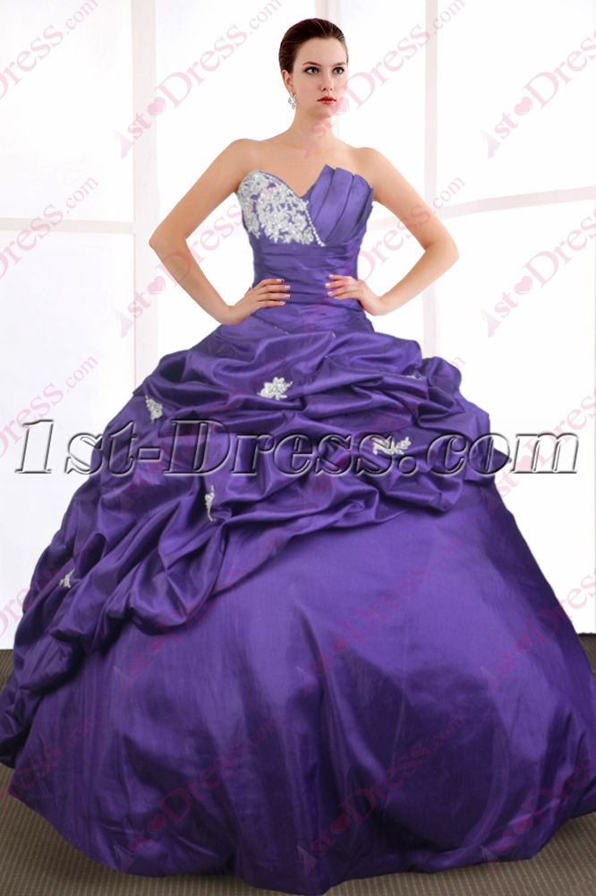 1st Dress Offers High Quality Purple Sweet 15 Gown 2016 Priced